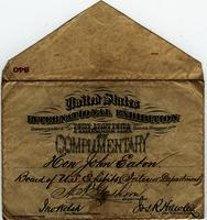 Ticket to International Exhibition in Philadelphia