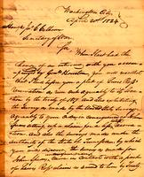 1824 Apr. 20, Washington City [to] Jno. [i.e., John] C. Calhoun, Secretary of War