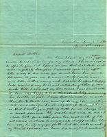 [Letter] 1841 Apr 1, Columbia Female Institute [to] Mrs. Elizabeth Chester, Jackson, Tennessee