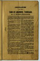 Ordinances of the Town of Lynchburg, Tennessee No. 4 Revised Ordinances