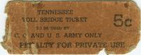 Tennessee Toll Bridge Ticket