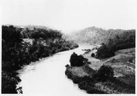 Clinch River above Loyston, Tennessee before TVA cleared the land
