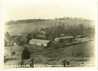Typical C.C.C barracks and headquarters, 223rd Co. C.C.C., TVA P-10, Powell Station, Tennessee