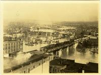 Downtown Nashville, Tennessee during the flood of 1937