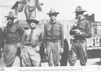 World War I Soldiers at Fountain Square in Johnson City, Tennessee