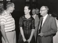 Photograph of Dr. Mercer, Mrs. Brown and Mr. Scopes in Dayton, Tennessee