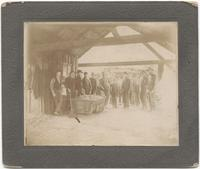 Workers with coal cart