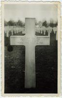 Gravestone cross of Albert Davis, Pvt. 521 Engrs. Tennessee, Nov. 14, 1918