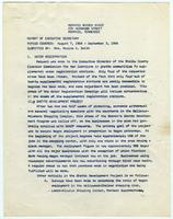 NAACP Report of Executive Secretary, August 7th thru September 3rd, 1968