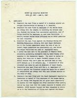 NAACP Report of Executive Secretary, April 7th thru June 6th, 1967