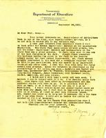 Letter from Virginia P. Moore to Professor Rose