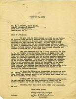 Letter from Joe Silverstein to Mr. E.A. Cisler