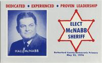 Hall McNabb for Sheriff of Rutherford County