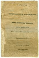 West Tennessee College catalogue 1844