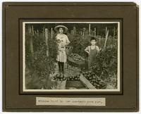 Ethelee Scott in her one-tenth acre plot.