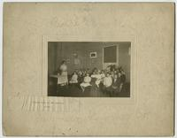 Rural School. Cloak Room of New School. After. Sideview Sumner Co.
