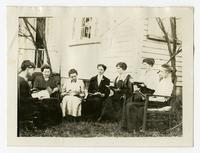 "[Virginia P. Moore's] study class in Tazewell (Tennessee) using ""Foods & nutrition"" as the textbook."