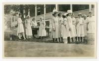 Jefferson County girls canning in tin. Carson-Newman Short Course, August 1917