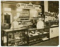 GIRLS CANNING CLUBS EXCHANGE.