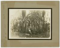 [Group photograph of a boys' corn club.]