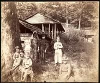 Group of children at Cider Mill - below Little River Gap