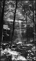 Rainbow Falls. Masked down print of 116 neg.