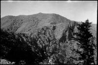 State Line near Saw Trail. Dry Sluice Gap in foreground. Far points are Kephart-jump-off. Center right is Charlies Bunion