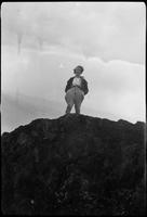 Mildred Webster on Grandfather Mtn.