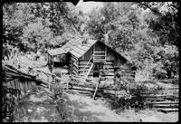 Spec. End view of Fain Cabin. Trip to Haw Knob
