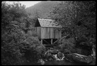 Tub Mill on Ramsey Prong. Greenbrier. Rare - mill gone