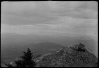 Mt. Mitchell faintly outlined in the distance from Grandfather Mountain