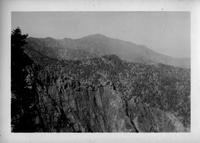 Eagle rock (In center background). Picture made from the Bradley Lookout on the State Line