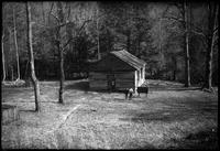 School House. Little Greenbrier. Note that only 5 logs were required to bring wall to proper height